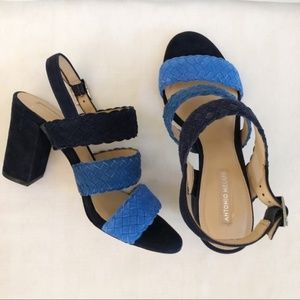 Antonio Melani Odeta Navy Blue Heels - size 7